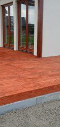 taras drewniany wykończony