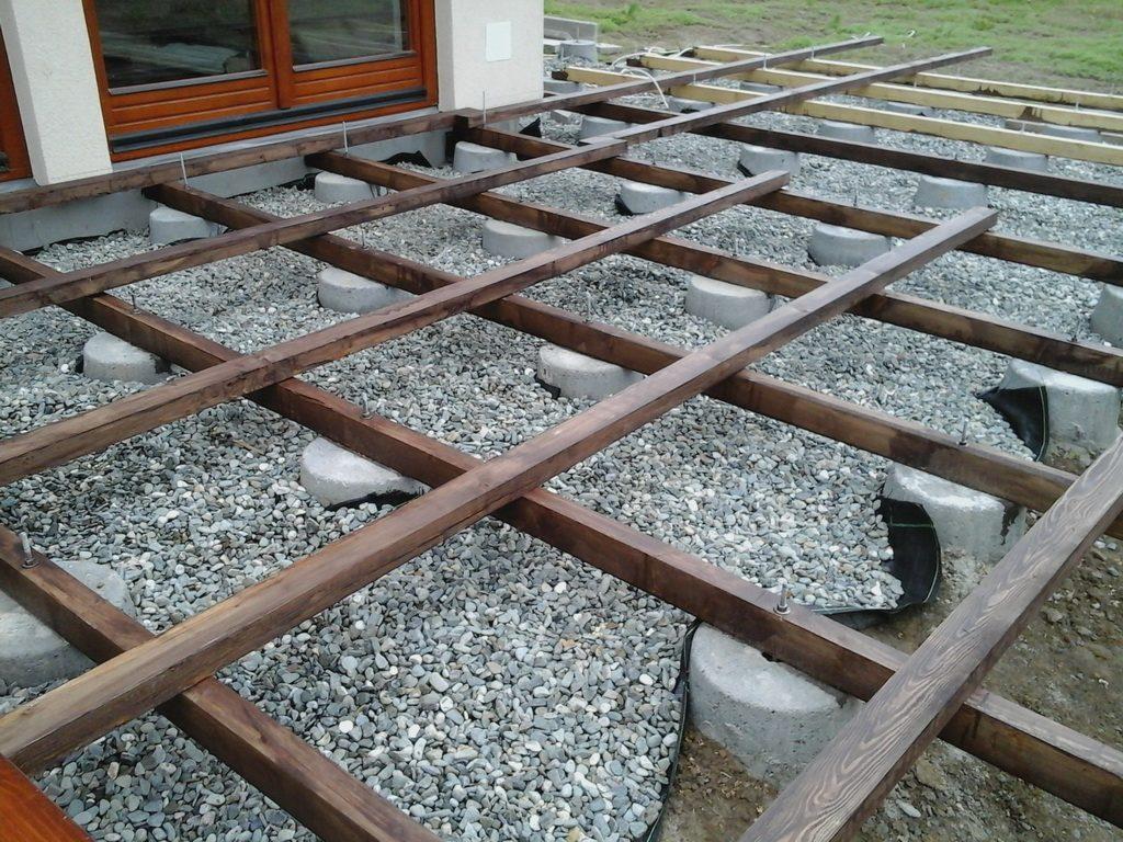 drewniana konstrukcja tarasu