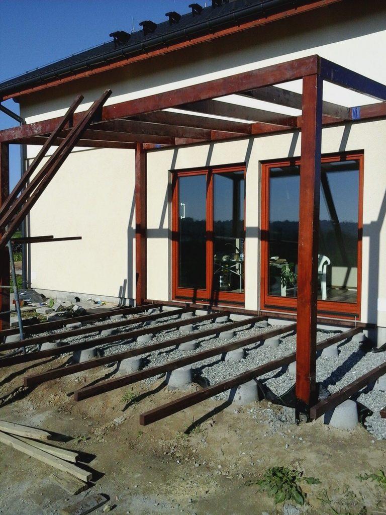 kontrukcja tarasu z patio