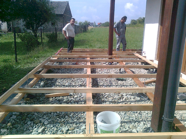 konstrukcja pod taras drewniany