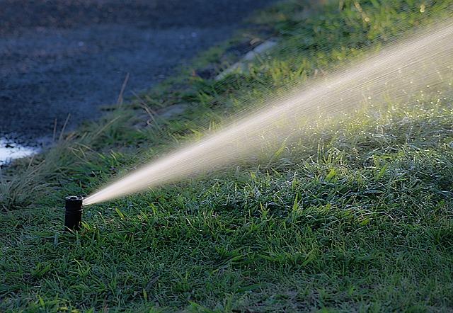 zraszacze systemu nawadniania ogrodu