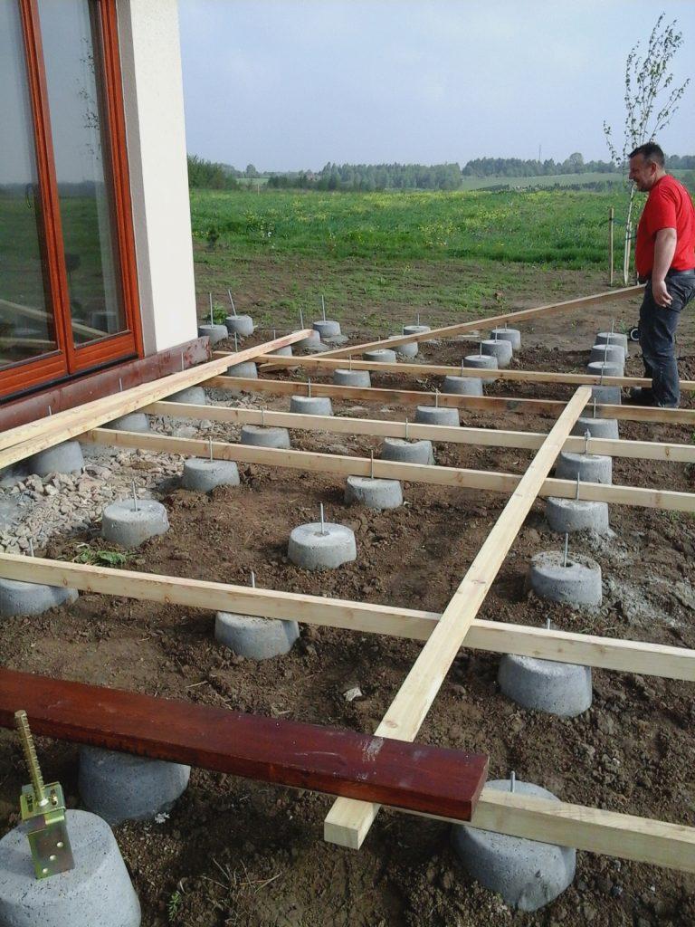 Konstrukcja podłogi tarasu