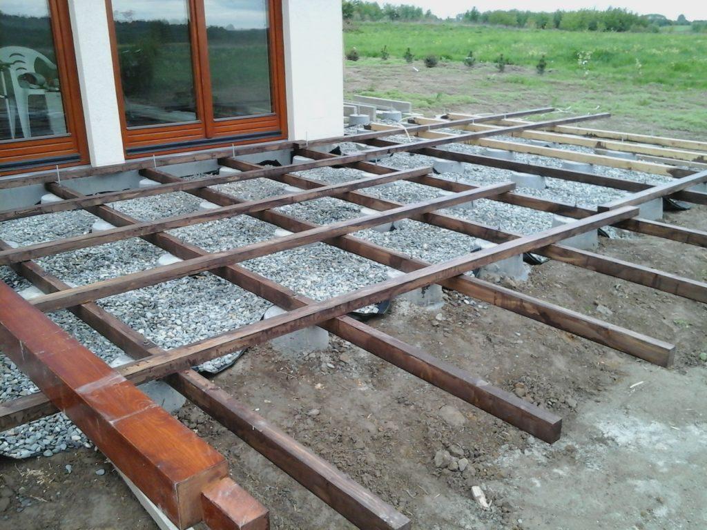 taras drewniany budowa podłogi